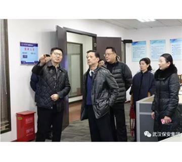 """武汉市公安局宣传处领导来公司座谈——为建设""""平安武汉""""共同贡献舆论引导力量"""
